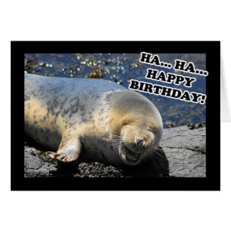 Seal Laughing Ha Ha Happy Birthday Card