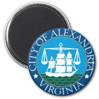 Seal of Alexandria, Virginia 2 Inch Round Magnet