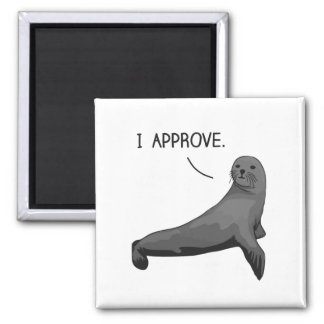 Seal of Approval Square Magnet