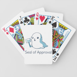 Seal Of Approval Tee T-shirt Bicycle Playing Cards
