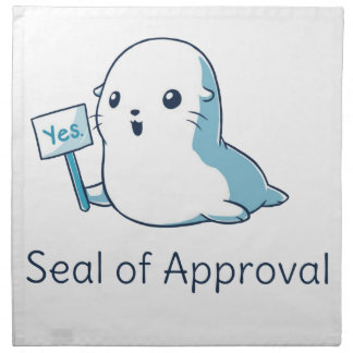 Seal Of Approval Tee T-shirt Napkin