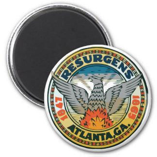 Seal of Atlanta, Georgia 2 Inch Round Magnet