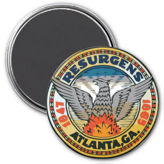 Seal of Atlanta, Georgia 3 Inch Round Magnet