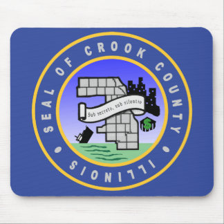 Seal Of Crook County Mouse Pad