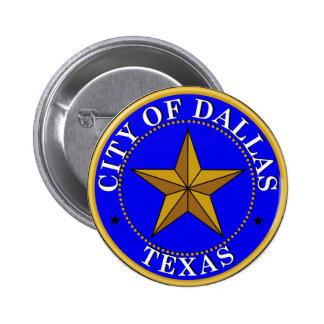 Seal of Dallas, Texas 2 Inch Round Button