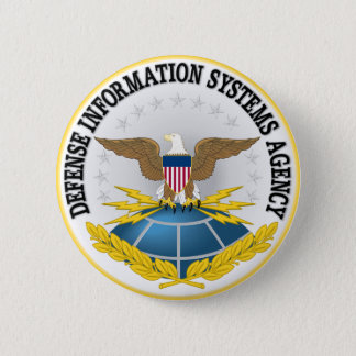 Seal of Defense Information Systems Agency 2 Inch Round Button
