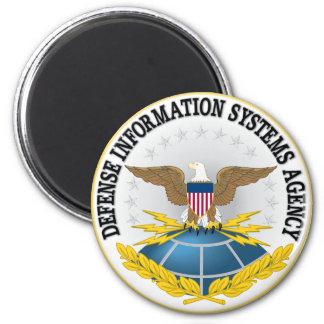 Seal of Defense Information Systems Agency 2 Inch Round Magnet