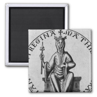 Seal of Empress Matilda Square Magnet