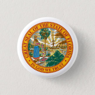 Seal of Florida 1 Inch Round Button