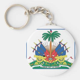 SEAL OF HAITI BASIC ROUND BUTTON KEYCHAIN