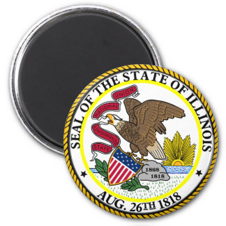 Seal of Illinois 2 Inch Round Magnet