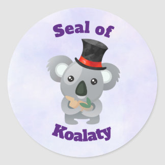 Seal of Koalaty with Cute Koala Bear