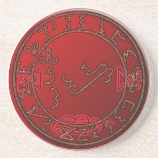 seal of lucifer 2 drink coaster