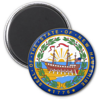 SEAL OF NEW HAMPSHIRE 2 INCH ROUND MAGNET