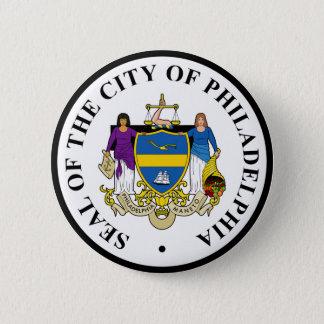 Seal of Philadelphia, Pennsylvania 2 Inch Round Button