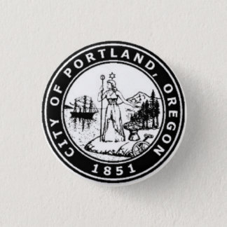 Seal of Portland, Oregon 1 Inch Round Button
