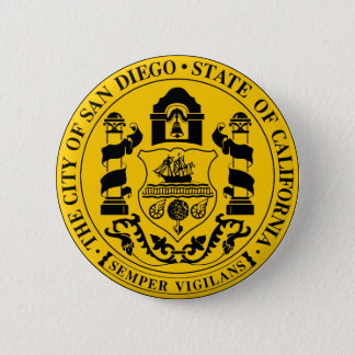 Seal of San Diego, California 2 Inch Round Button