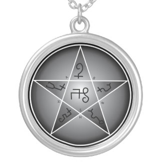 Seal Of Solomon - G Silver Plated Necklace