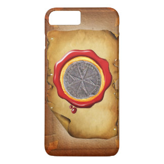 Seal of St. Stephen Tuscany Medici WAX parchment iPhone 8 Plus/7 Plus Case
