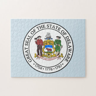 Seal of State Delaware. Jigsaw Puzzle