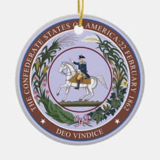 Seal of the Confederacy Ceramic Ornament