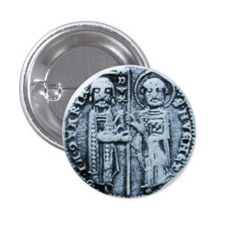 SEAL OF THE KNIGHTS TEMPLAR 1 INCH ROUND BUTTON