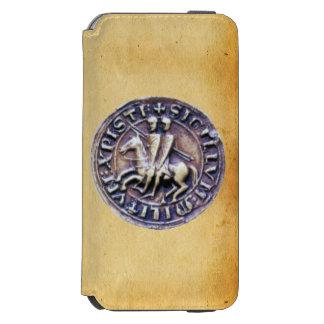 SEAL OF THE KNIGHTS TEMPLAR parchment MONOGRAM Incipio Watson™ iPhone 6 Wallet Case