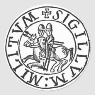 Seal of the Knights Templar Round Sticker