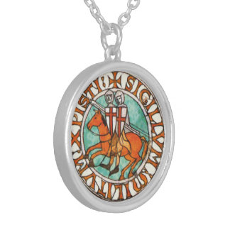 Seal of the Knights Templar Silver Plated Necklace