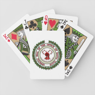 Seal of the Office of Santa Claus Playing Cards