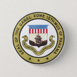 SEAL OF THE PANAMA CANAL ZONE 2 INCH ROUND BUTTON