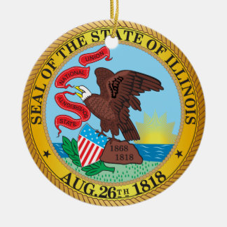 Seal of the State of Illinois Ceramic Ornament