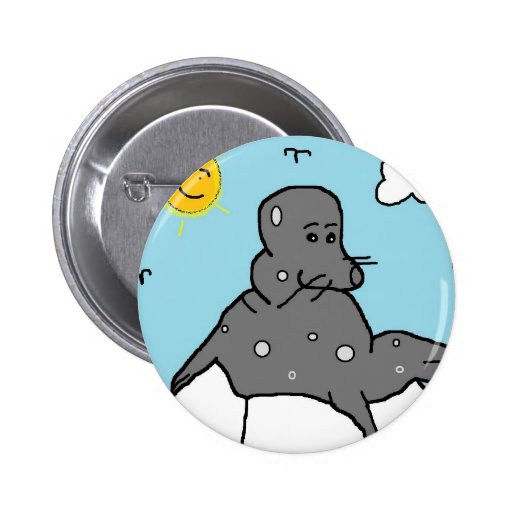 seal on ice pinback buttons