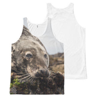 seal photograph All-Over-Print tank top