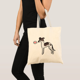 Seal Pied Italian Greyhound With A Heart Tote Bag
