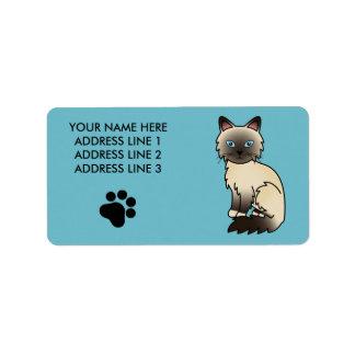 Seal Point Birman / Ragdoll Cat Label