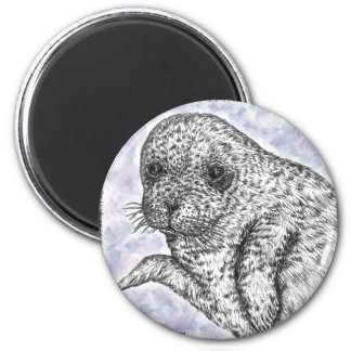 Seal Pup 2 Inch Round Magnet