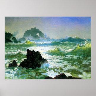 Seal Rock 2 by Bierstadt Poster