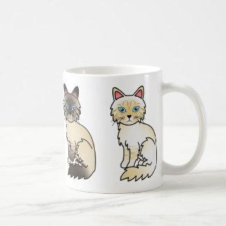 Seal Tabby And Cream Tabby Birman / Ragdoll Cats Coffee Mug
