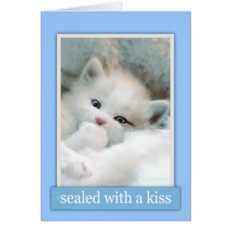 Seal with a Kiss Card
