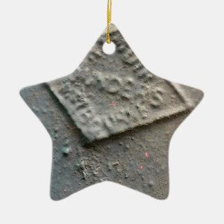 Sealed -- Antique metal makers seal. Ceramic Ornament