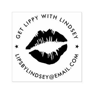 Sealed With a Kiss   Lip Product Distributor Self-inking Stamp