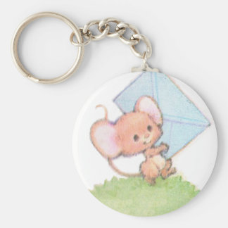 Sealed With A Kiss Mice Love Letter Basic Round Button Keychain