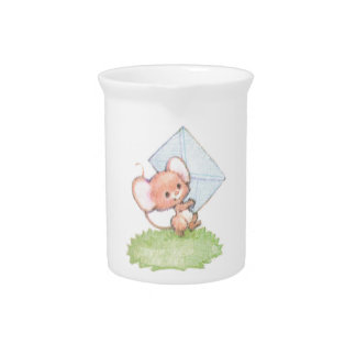 Sealed With A Kiss Mice Love Letter Beverage Pitcher
