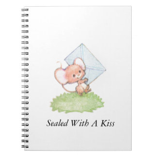 Sealed With A Kiss Mice Love Letter Spiral Notebook