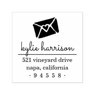 Sealed With a Kiss Return Address Stamp