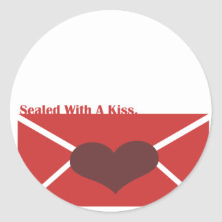 Sealed With A Kiss Set Classic Round Sticker