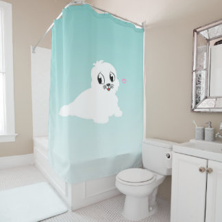 SEALED WITH A KISS  SHOWER CURTAIN