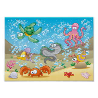 "Sealife 11"" x 8.5"", Value Poster Paper (Matte)"