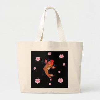 Sealife Koi Fish Large Tote Bag